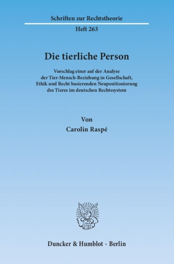 Cover: Die tierliche Person