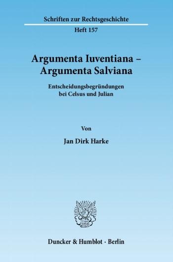 Cover: Argumenta Iuventiana – Argumenta Salviana