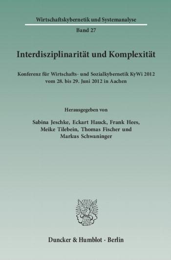 Cover: Interdisziplinarität und Komplexität