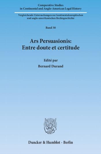 Cover: Ars Persuasionis: Entre doute et certitude