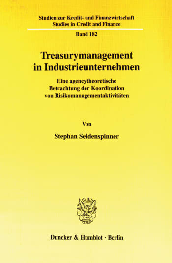 Cover: Treasurymanagement in Industrieunternehmen
