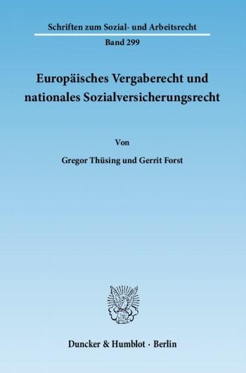 Cover: Europäisches Vergaberecht und nationales Sozialversicherungsrecht