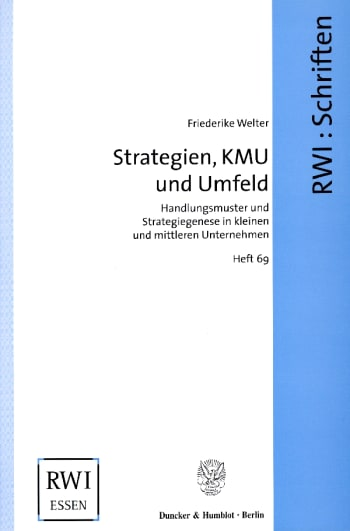Cover: Strategien, KMU und Umfeld