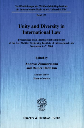 Cover: Unity and Diversity in International Law