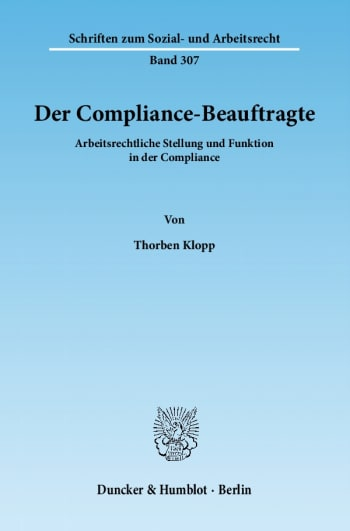 Cover: Der Compliance-Beauftragte