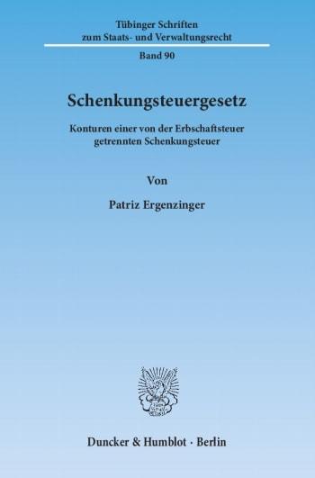 Cover: Schenkungsteuergesetz