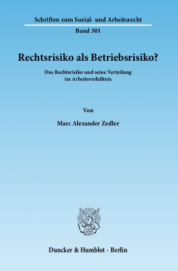 Cover: Rechtsrisiko als Betriebsrisiko?