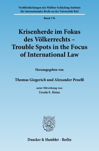 Cover: Krisenherde im Fokus des Völkerrechts / Trouble Spots in the Focus of International Law
