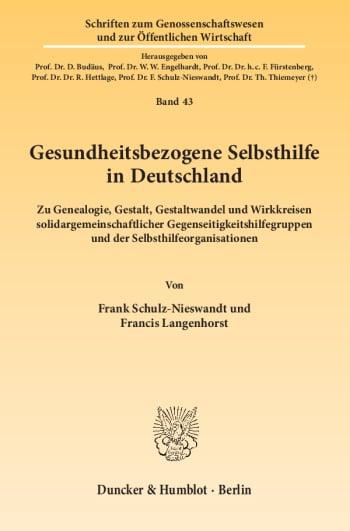 Cover: Gesundheitsbezogene Selbsthilfe in Deutschland