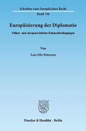 Cover: Europäisierung der Diplomatie