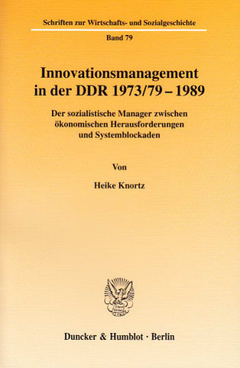 Cover: Innovationsmanagement in der DDR 1973/79-1989