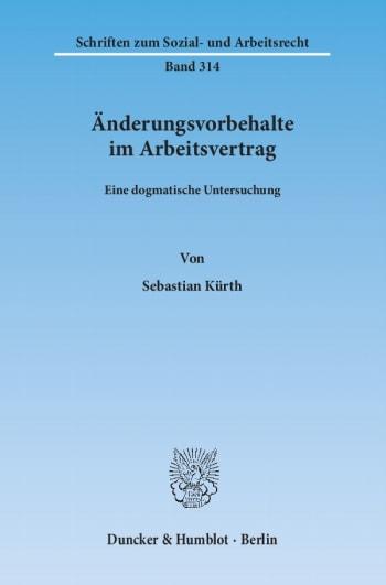 Cover: Änderungsvorbehalte im Arbeitsvertrag