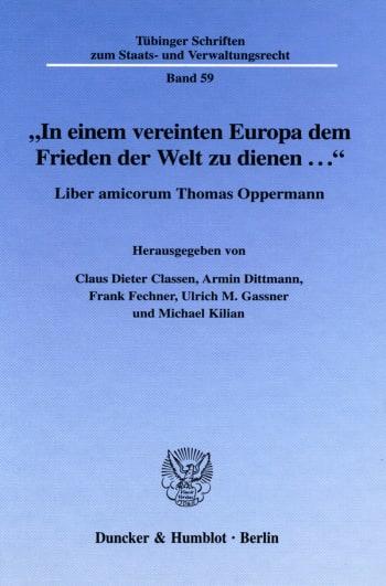 """Cover: """"In einem vereinten Europa dem Frieden der Welt zu dienen ..."""""""