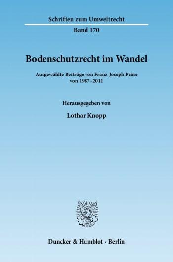 Cover: Bodenschutzrecht im Wandel