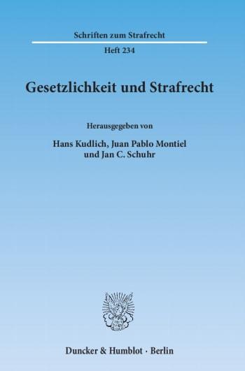 Cover: Gesetzlichkeit und Strafrecht