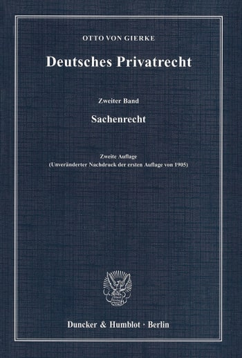 Cover: Deutsches Privatrecht