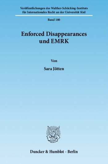 Cover: Enforced Disappearances und EMRK