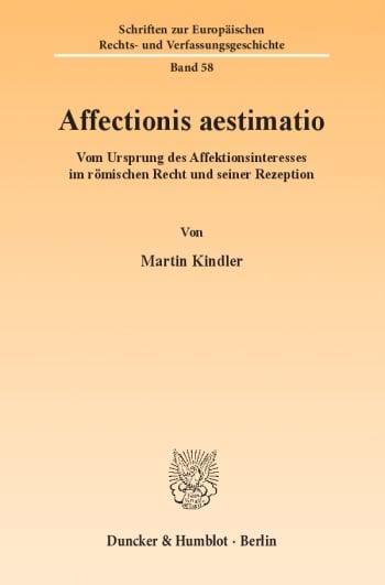 Cover: Affectionis aestimatio