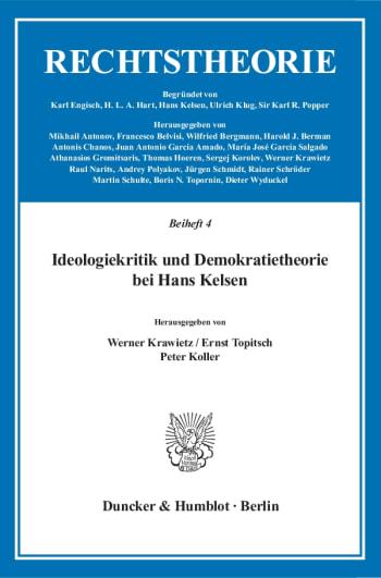 Cover: Ideologiekritik und Demokratietheorie bei Hans Kelsen