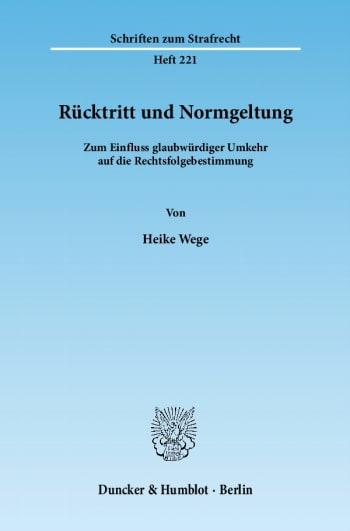 Cover: Rücktritt und Normgeltung