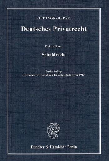 Cover: Deutsches Privatrecht