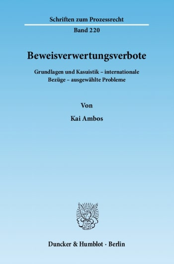 Cover: Beweisverwertungsverbote