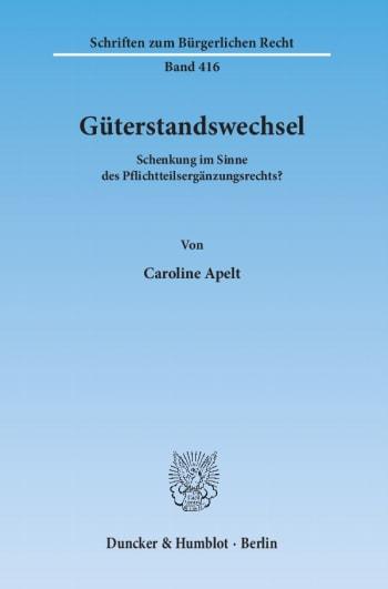 Cover: Güterstandswechsel