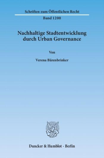 Cover: Nachhaltige Stadtentwicklung durch Urban Governance