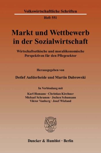 Cover: Markt und Wettbewerb in der Sozialwirtschaft