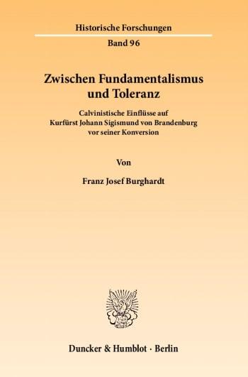Cover: Zwischen Fundamentalismus und Toleranz