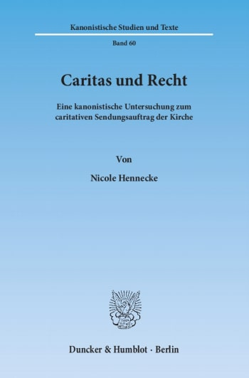 Cover: Caritas und Recht