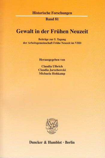 Cover: Gewalt in der Frühen Neuzeit