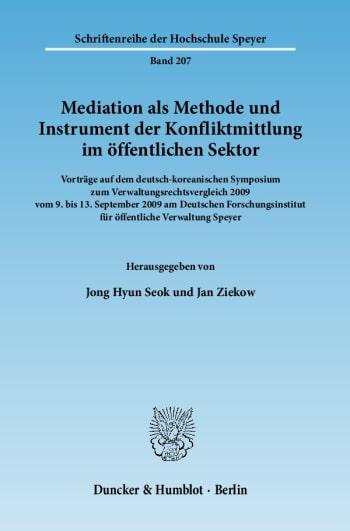 Cover: Mediation als Methode und Instrument der Konfliktmittlung im öffentlichen Sektor
