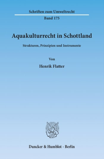 Cover: Aquakulturrecht in Schottland