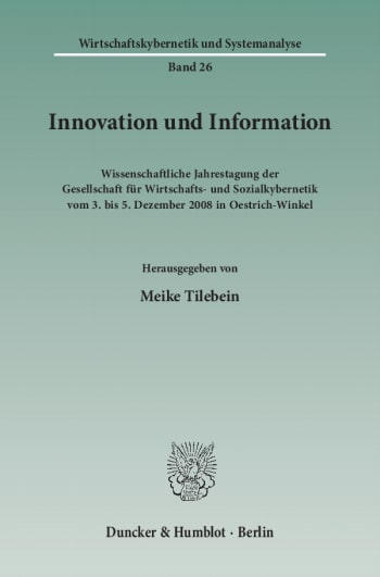 Cover: Innovation und Information