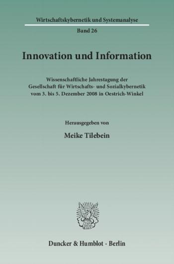 Cover: Innovation und Information