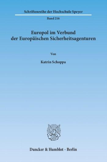 Cover: Europol im Verbund der Europäischen Sicherheitsagenturen