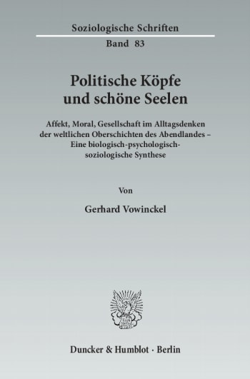 Cover: Politische Köpfe und schöne Seelen