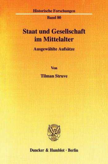 Cover: Staat und Gesellschaft im Mittelalter