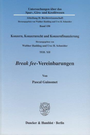 Cover: Break fee-Vereinbarungen