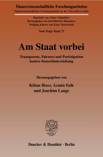 Cover: Am Staat vorbei
