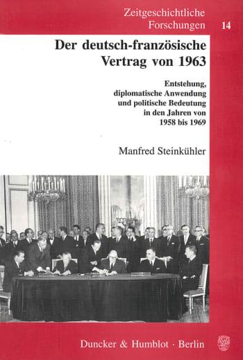 Cover: Der deutsch-französische Vertrag von 1963