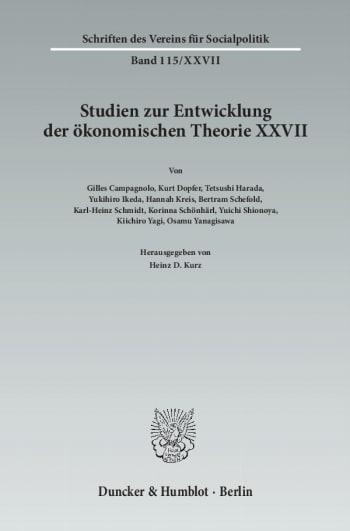 Cover: Der Einfluss deutschsprachigen wirtschaftswissenschaftlichen Denkens in Japan