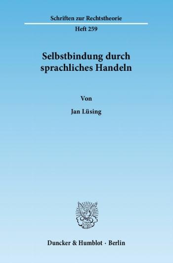 Cover: Selbstbindung durch sprachliches Handeln