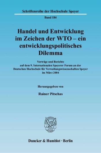 Cover: Handel und Entwicklung im Zeichen der WTO - ein entwicklungspolitisches Dilemma