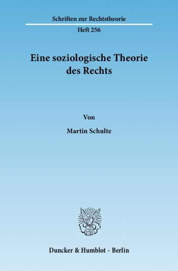 Cover: Eine soziologische Theorie des Rechts