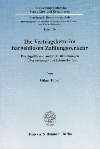 Cover: Die Vertragskette im bargeldlosen Zahlungsverkehr