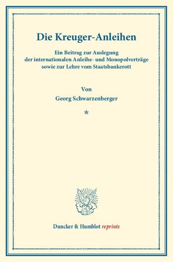 Cover: Die Kreuger-Anleihen