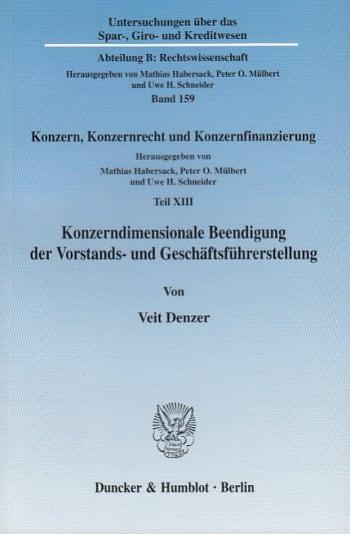 Cover: Konzerndimensionale Beendigung der Vorstands- und Geschäftsführerstellung