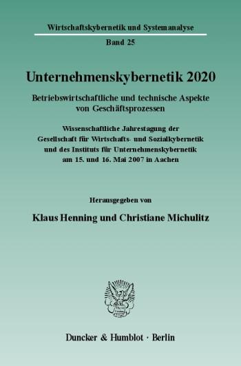 Cover: Unternehmenskybernetik 2020